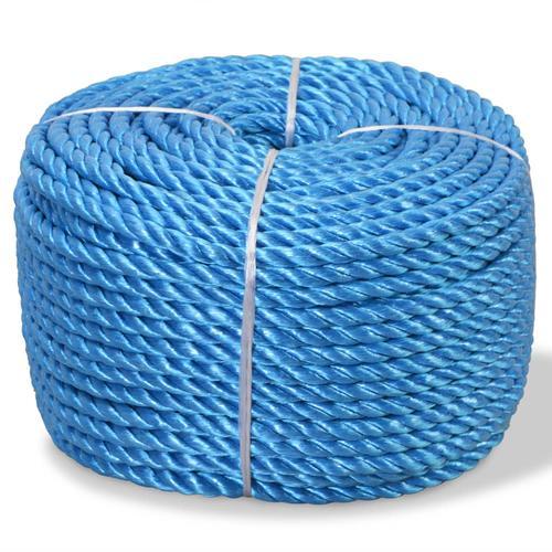vidaXL Polypropylenseil 12 mm 250 m Blau