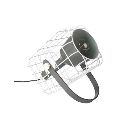 designline Tischlampe Cage weiss