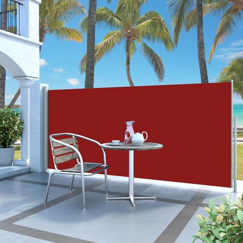 vidaXL Ausziehbare Seitenmarkise 140 x 300 cm Rot