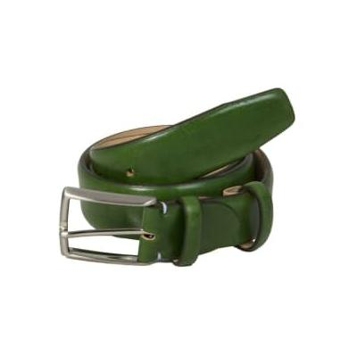 40 Colori - Venezia Leather Belt - Red / X-Large (40-43'' or 100-110cm) - Green/Red/Blue