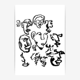 makwerk - Faces Poster - A4 (210...