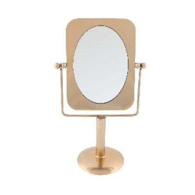 Accessories for the Home - Pris Brass Vanity Mirror - Glass/Gold