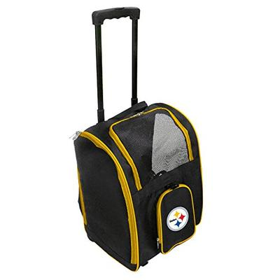 Denco NFL Pittsburgh Steelers Premium Wheeled Pet Carrier