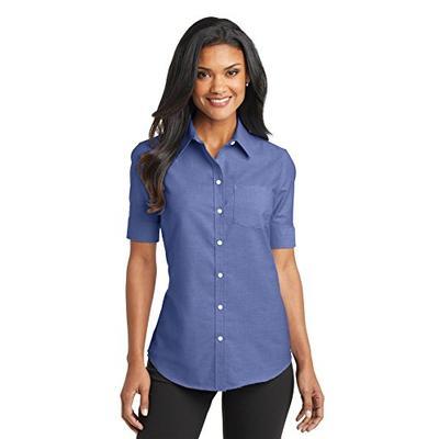 Port Authority Ladies Short Sleeve SuperPro Oxford Shirt XXL Navy