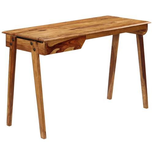 vidaXL Schreibtisch 118 x 50 x 76 cm Massivholz