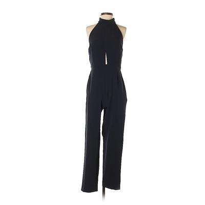 OML Jumpsuit: Blue Solid Jumpsuits - Size 7
