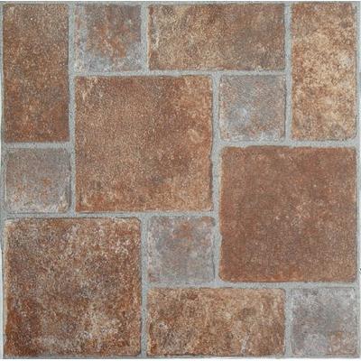 Achim Imports FTVGM33245 Tivoli Brick Pavers 12x12 Self Adhesive Vinyl Floor Tile-45 Tiles/45 sq. Ft