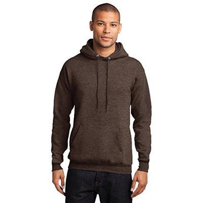 Port & Company - Core Fleece Pullover Hooded Sweatshirt. PC78H Heather Dark Chocolate Brown 3XL