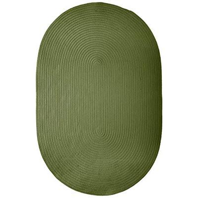 Boca Raton Polypropylene Braided Rug, 2-Feet by 3-Feet, Moss Green