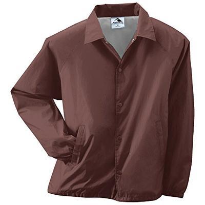 Augusta Sportswear Unisex-Adult Nylon Coach's Jacket/Lined, Brown, X-Large