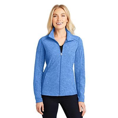 Port Authority Ladies Heather Microfleece Full-Zip Jacket, Light Royal Heather, Small