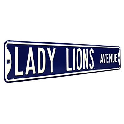 "NCAA Lady Lions Avenue Penn State Street Signstreet Sign, Team Color, 36"" x 6"""