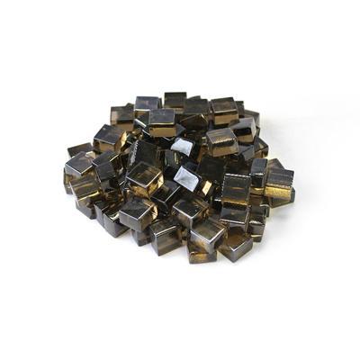 """""""Bronze 1/2"""""""" Reflective Fireglass Cubes - 10 lb bag in N/A - TK Classics Fp-Cube-Brz12"""""""