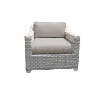 Fairmont 2 Piece Outdoor Wicker Patio Furniture Set 02b in Spa - TK Classics Fairmont-02B-Spa