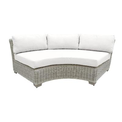 Coast Curved Armless Sofa in White - TK Classics Tkc038B-Cas-White