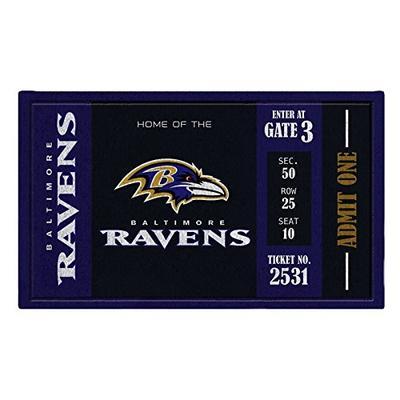 Team Sports America Baltimore Ravens Recyclable PVC Vinyl Indoor/Outdoor Weather-Resistant Team Logo