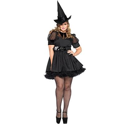 Leg Avenue Women's Plus-Size Bewitching Witch Costume, Black, 3X