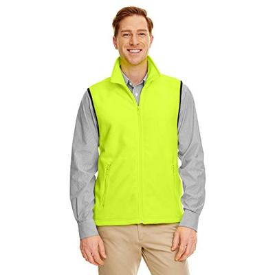 Harriton M985 Adult 8 Oz. Fleece Vest Safety Yellow 2Xl -