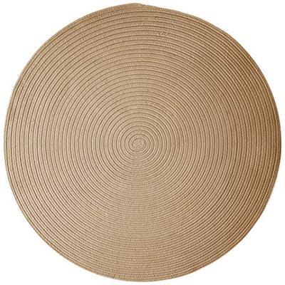 Boca Raton Polypropylene Braided Round Rug, 10-Feet, Cuban Sand