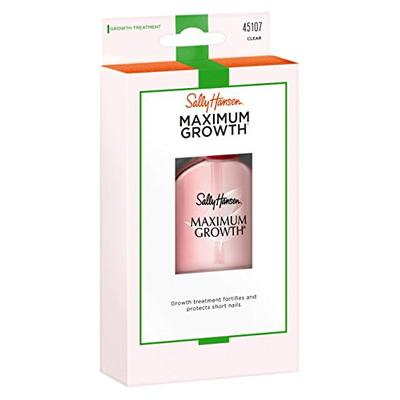 Sally Hansen Maximum Growth Treatment Clear 0.45 Ounce (13.3ml) (3 Pack)