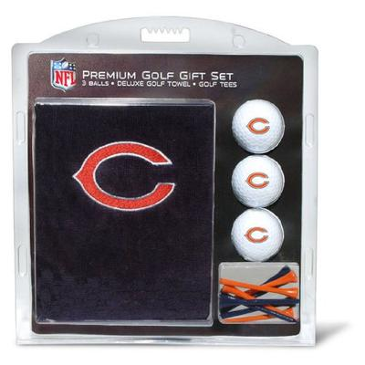 """Team Golf NFL Chicago Bears Gift Set Embroidered Golf Towel, 3 Golf Balls, and 14 Golf Tees 2-3/4"""" R"""