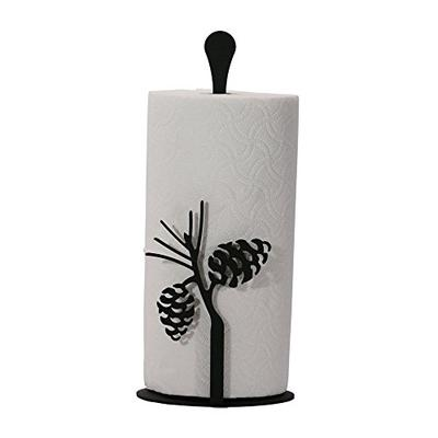14 Inch Pinecone Paper Towel Stand
