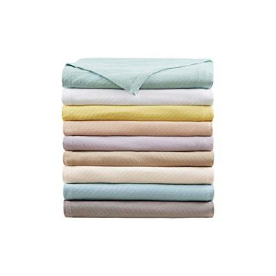 Madison Park Liquid Cotton Blanket, Twin, Gray