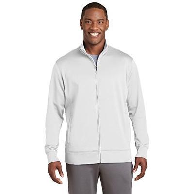 Sport-Tek Sport-Wick Fleece Full-Zip Jacket. ST241 White L